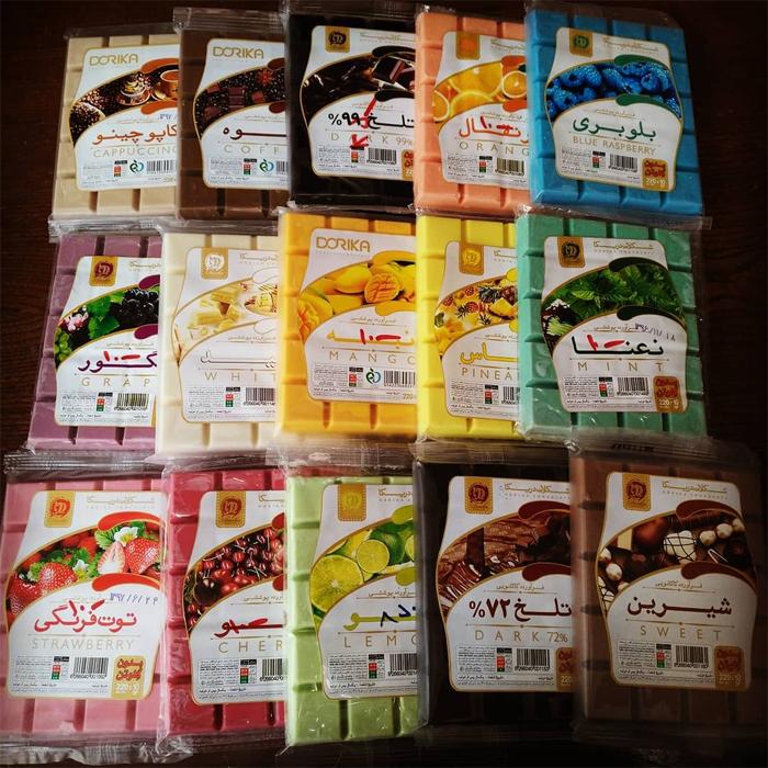 شکلات تخته ای 220 گرمی دوریکا